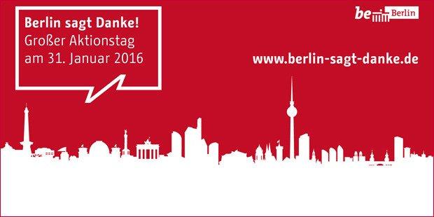 #BerlinSagtDanke an alle Engagierten in der Stadt. Programm gibt's hier: https://t.co/HAfEK34Cg2 #refugeeswelcome https://t.co/xfuzga3Wvq