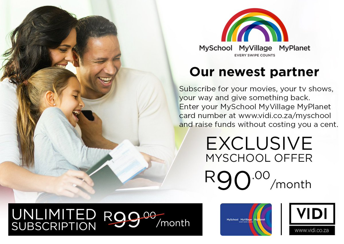 Don't forget to take advantage of our exclusive MySchool offer and only pay R90 for an unlimited subscription fee! https://t.co/UATVybEIJu