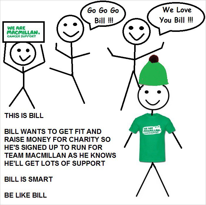 #teammacmillan needs you! Get fit, have fun, make friends, raise funds & #BeLikeBill. Click https://t.co/Mcy6eNQj8L https://t.co/Ch6KrVmuYi