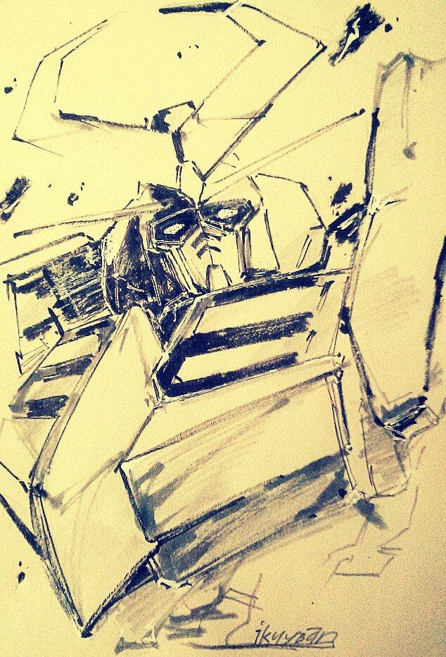 バルディオス一挙放送見たので描きました pic.twitter.com/mtefS3fDLa
