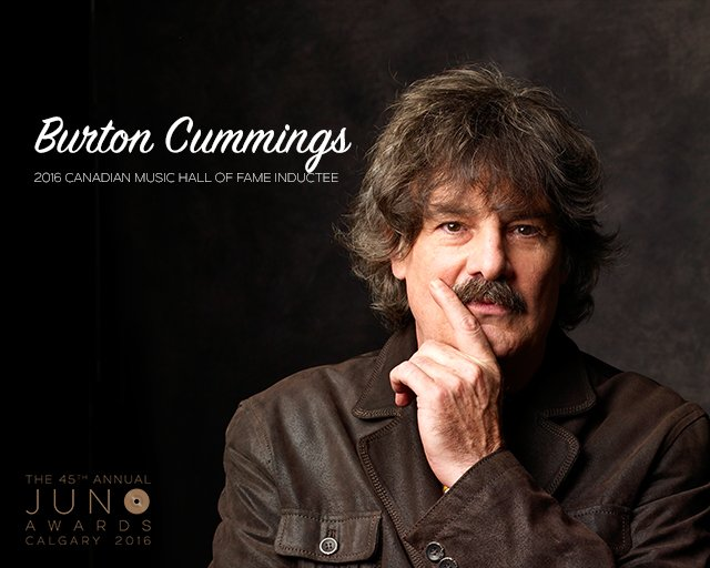 Burton Cummings To Be Inducted into The @CANMusicHF at the 2016 @TheJUNOAwards. https://t.co/cSpnfptr8k https://t.co/z3bmmeMi6Q