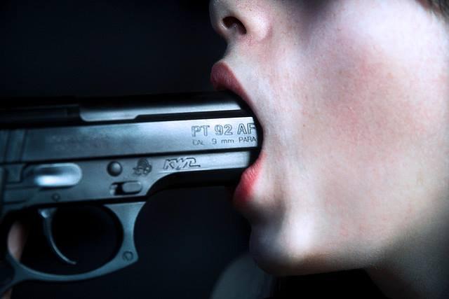 Картинки с пистолетом во рту