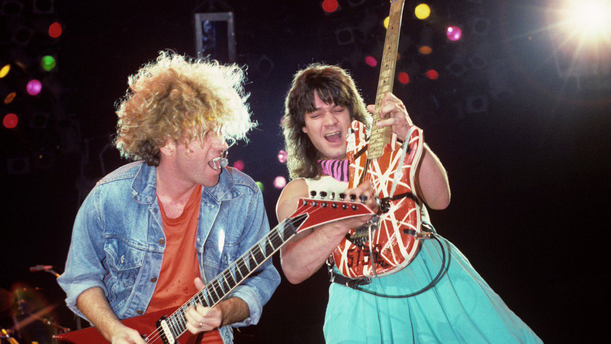 "Eddie Van Halen auf Twitter: "".@sammyhagar Thanks Sammy. Hope you're well  too."""