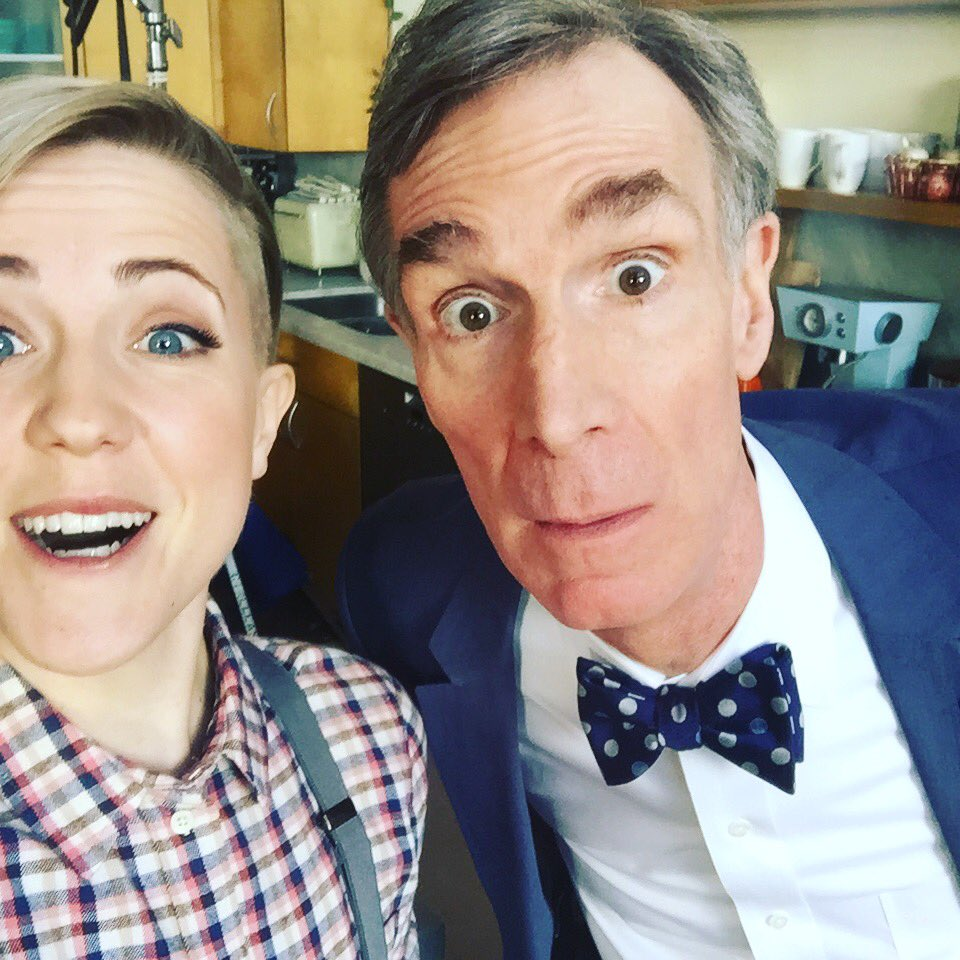 Talking about food with this dude! It's not magic... It's gastronomy. ;) @BillNye