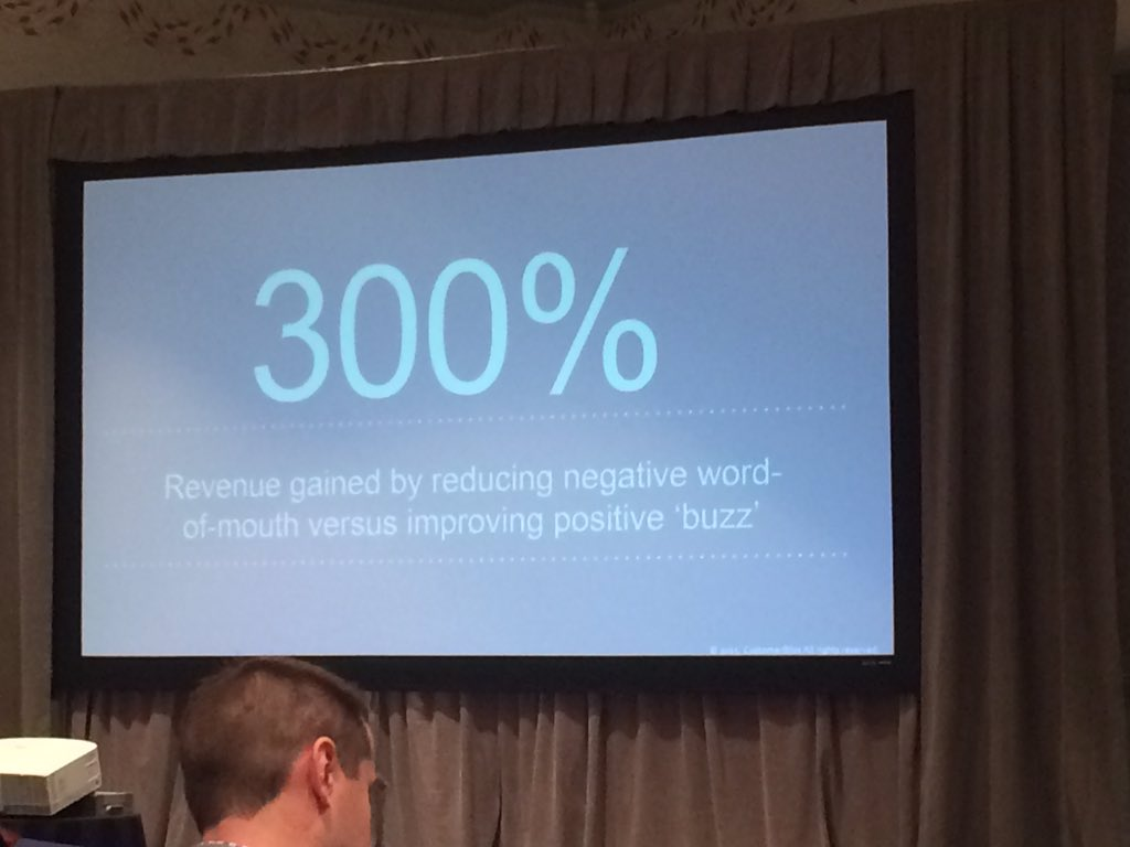 Stop chasing positive buzz & instead reduce negative word-of-mouth @JeanneBliss #socialmediaorg https://t.co/WirTjlX0tM
