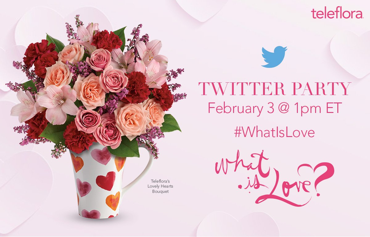 Join us for a #vday #TwitterParty on 2/3 at 1PM ET. $1,000+ in prizes! #WhatIsLove  RSVP: https://t.co/vAwA3EAhEL https://t.co/UqHnw4GFr7