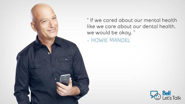 Imagine if we felt as comfortable talking about our #mentalhealth as we do about going to the dentist. #BellLetsTalk