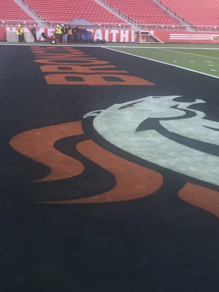 Logos already down for #SB50 #Broncos https://t.co/10ezDMPpPN