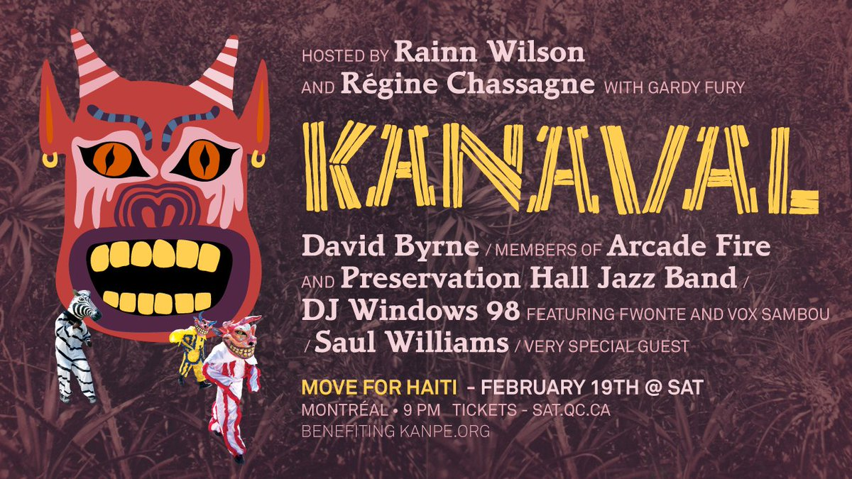 KNAPE Montreal Arcade Fire David Byrne Saul Williams Haiti