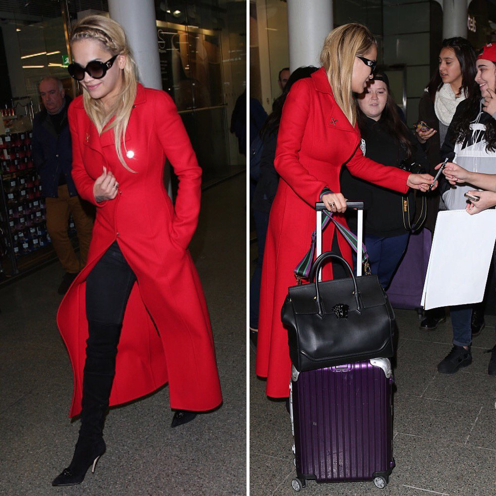 5ea69275541 ritaora was spotted traveling in style in all Versace accessories,  including the new