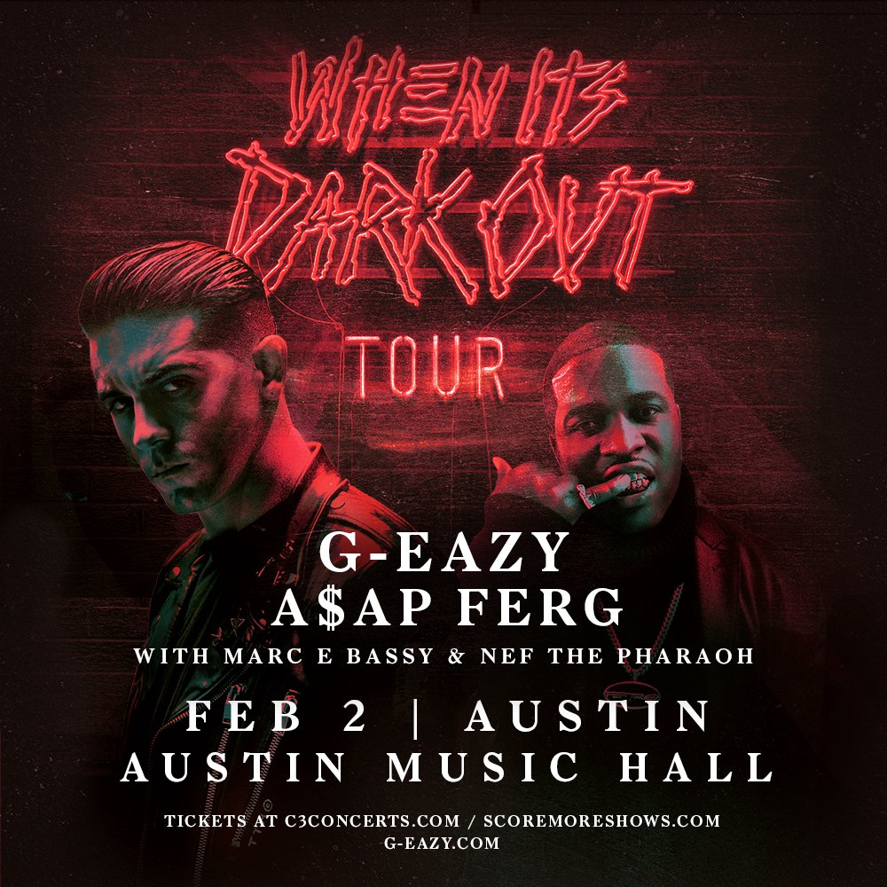 Due to crazy demand G-Eazy has moved to AMH! Original tix honored. Remaining tix avail here https://t.co/KPKuAR31PE https://t.co/dVaoYpyYn2