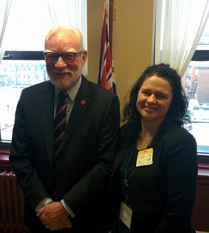 Cold day in Ottawa but welcome was warm for BCMA VP Tania Muir mtg with Senator Larry Campbell #CanadianMuseumsDay https://t.co/i2tdeIOpIJ