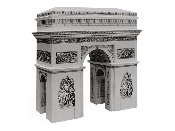 papercraft crafts arc triomphe paris