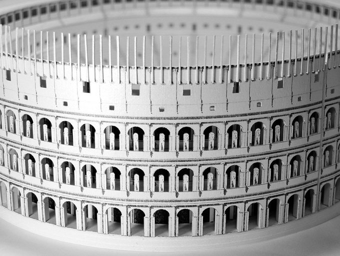Amazon.com: PaperLandmarks Roman Colosseum Paper Model Kit