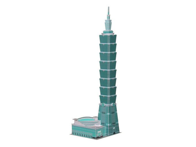 papercraft diy skyscrapers taipei