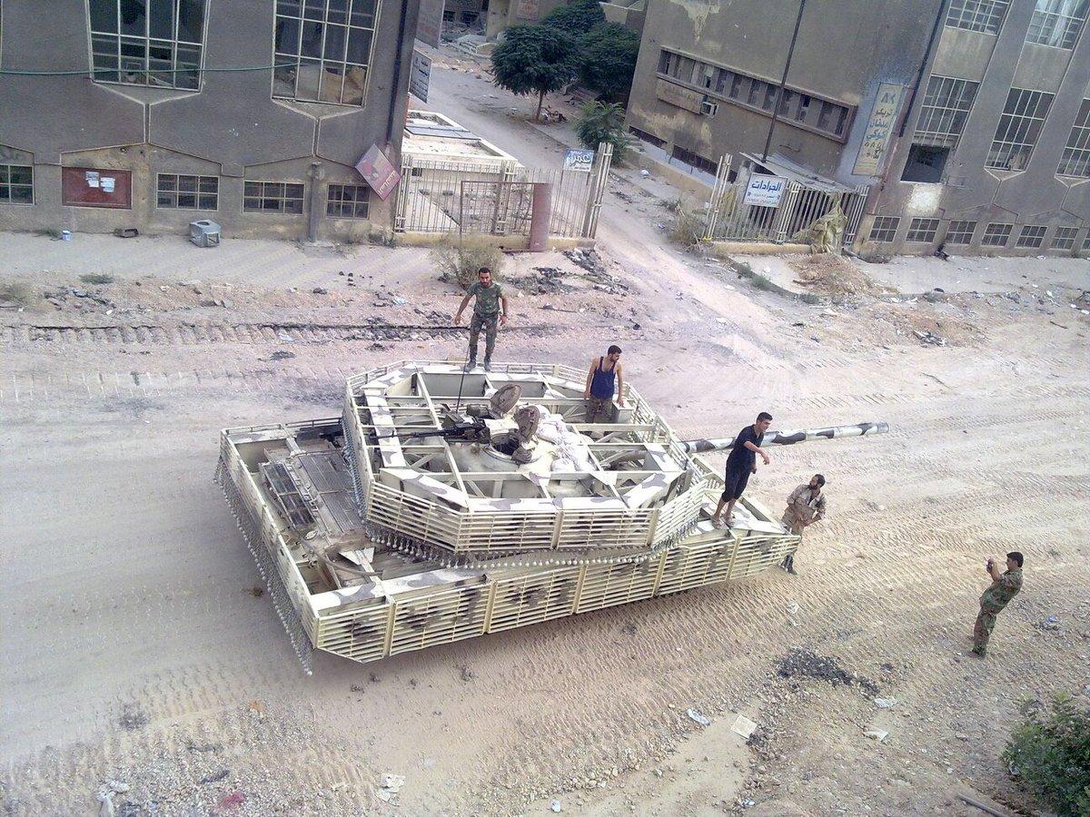 Особенности защиты сирийских танков Т-72М