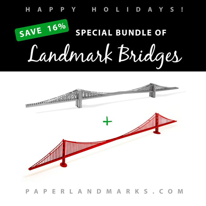 papercraft crafts bridges sale discount