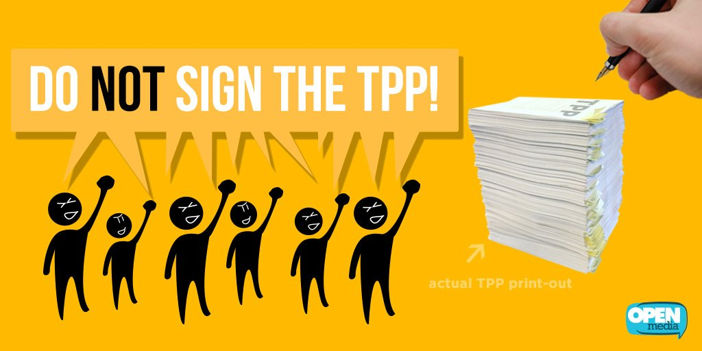 The final countdown for the #TPP has started. Make your voice count: https://t.co/4cucbhEebG #dontsigntheTPP https://t.co/iVRy9jotjl