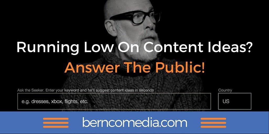 Content Marketing Brain Cramps Be Gone! (Thanks to @answerthepublic) https://t.co/pF2MtBwjnh https://t.co/G1KqRzgqgK