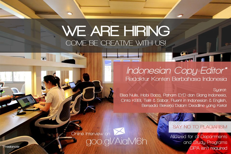 IG JOGJALOWKERcom On Twitter JogjaLowker Indonesian Copy Editor
