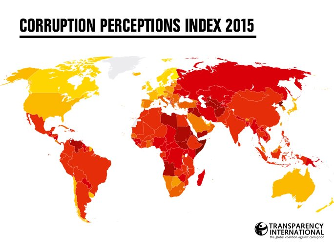And it's officially LIVE! Check out how #corrupt your country is considered: https://t.co/49MVeArkDy #timeforjustice https://t.co/RcRhchnQ1K