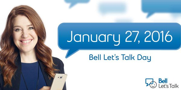 Getting the Message Out with #BellLetsTalk Day Today https://t.co/mFtHi5Io9O https://t.co/eF81WaKL3p