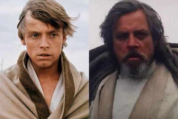 Resultado de imagem para luke skywalker young old