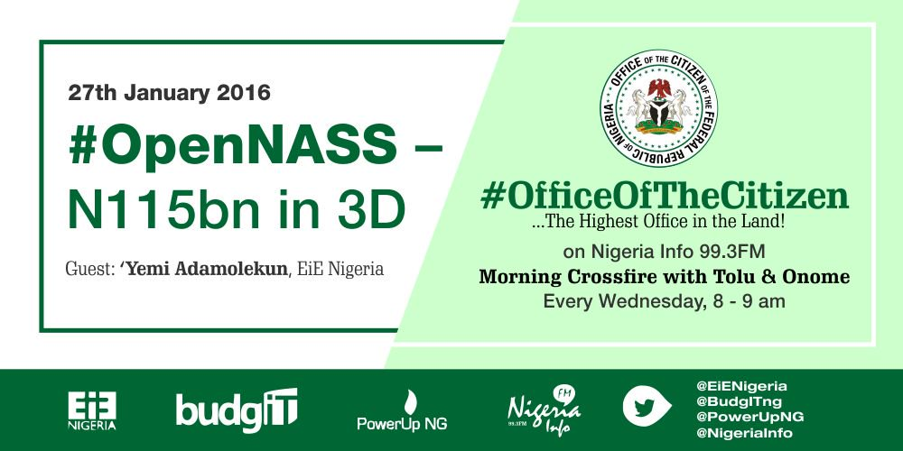 Thumbnail for #OfficeOfTheCitizen: #OpenNASS - N115bn in 3D