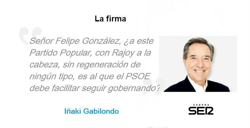 """""""¿Cómo puede el Partido Popular...?"""". La voz de Iñaki Gabilondo se llena hoy de preguntas: https://t.co/7v8imU3e3Z https://t.co/mh6LuBRvcT"""