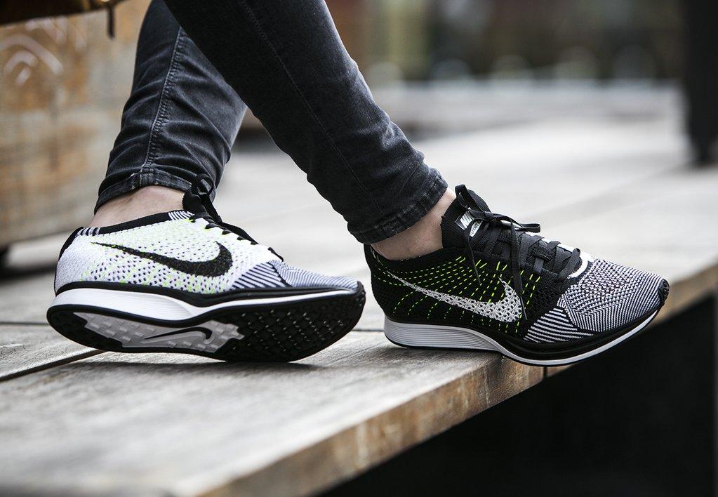 Nike Flyknit Racer Orca / Volt