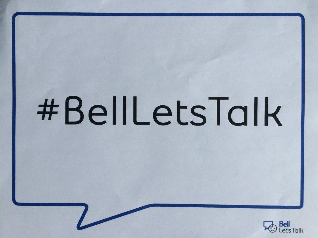 #BellLetsTalk https://t.co/POBJR7vjRs