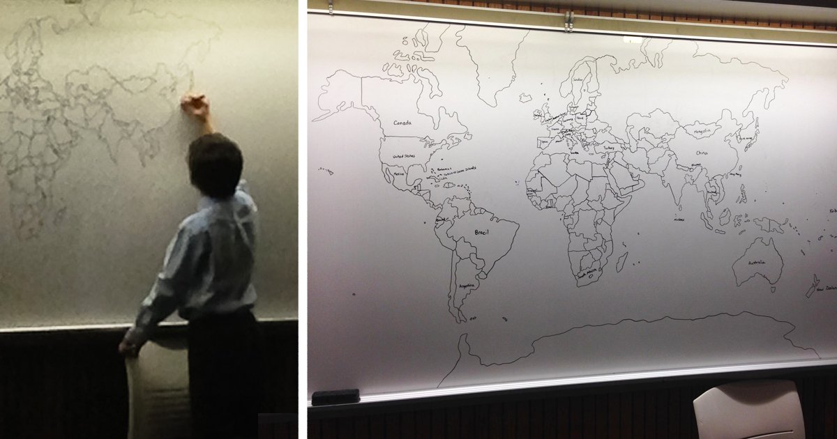 11-Year-Old Boy With Autism Draws Detailed World Map Entirely From Memory https://t.co/Vo1mWPrjIp https://t.co/3SCzkyw8dE