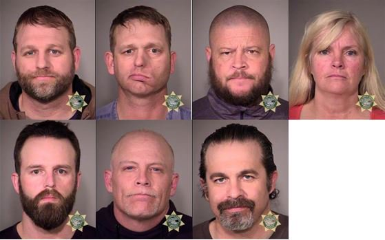 BREAKING: Booking photos of Ammon Bundy, 7 others after arrest near Burns. https://t.co/AcqRyP4pd5 #KOIN6News https://t.co/un82wepf95