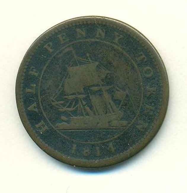 For #CanadianMuseumsDay here's an 1814 trade token from Nova Scotia in the collection of #Chester's #GrosvenorMuseum https://t.co/FgOnK0S7Wn