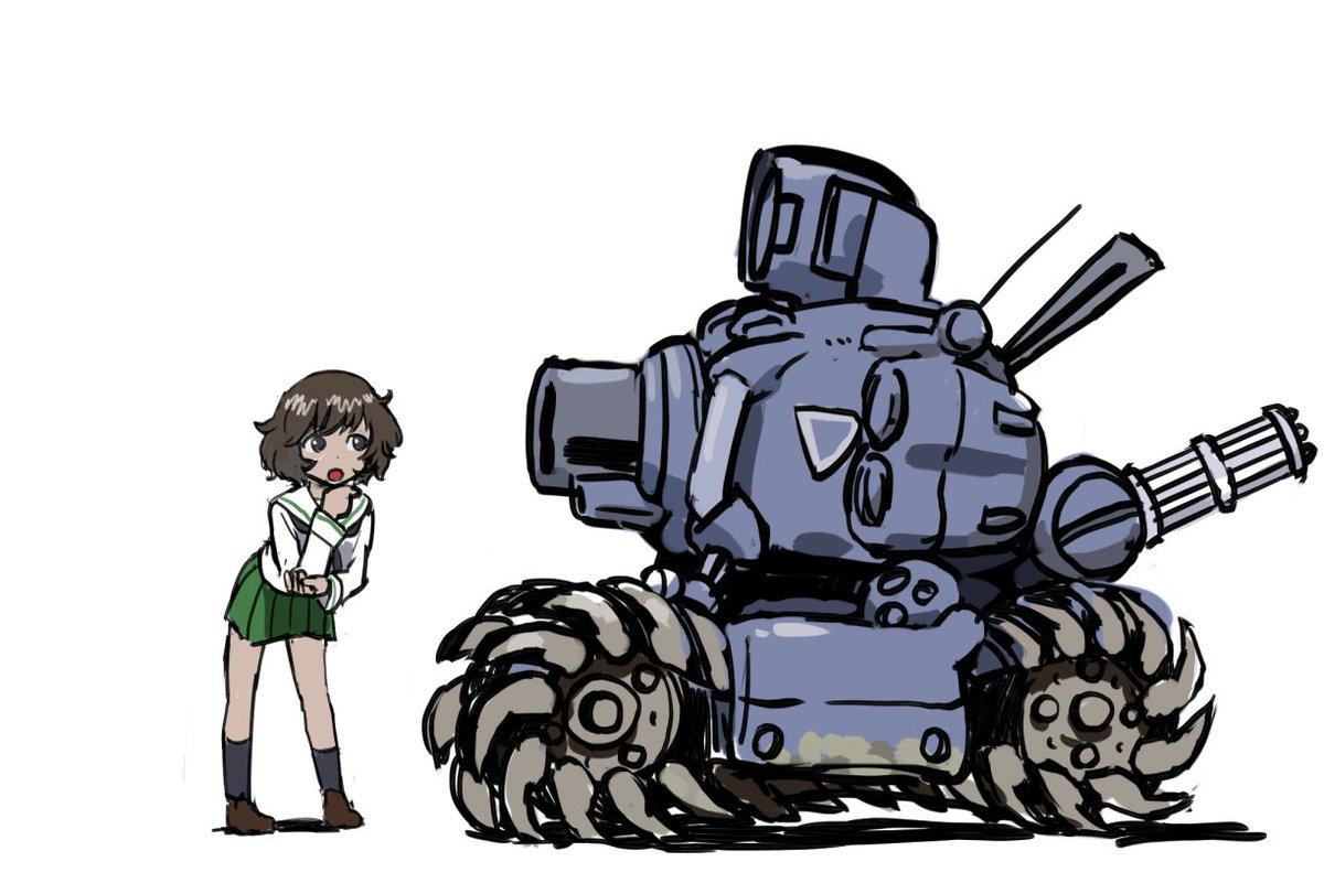 「はじめて見る戦車ですね・・・すごく個性的なシルエットです」 pic.twitter.com/eWXIG9fLlo