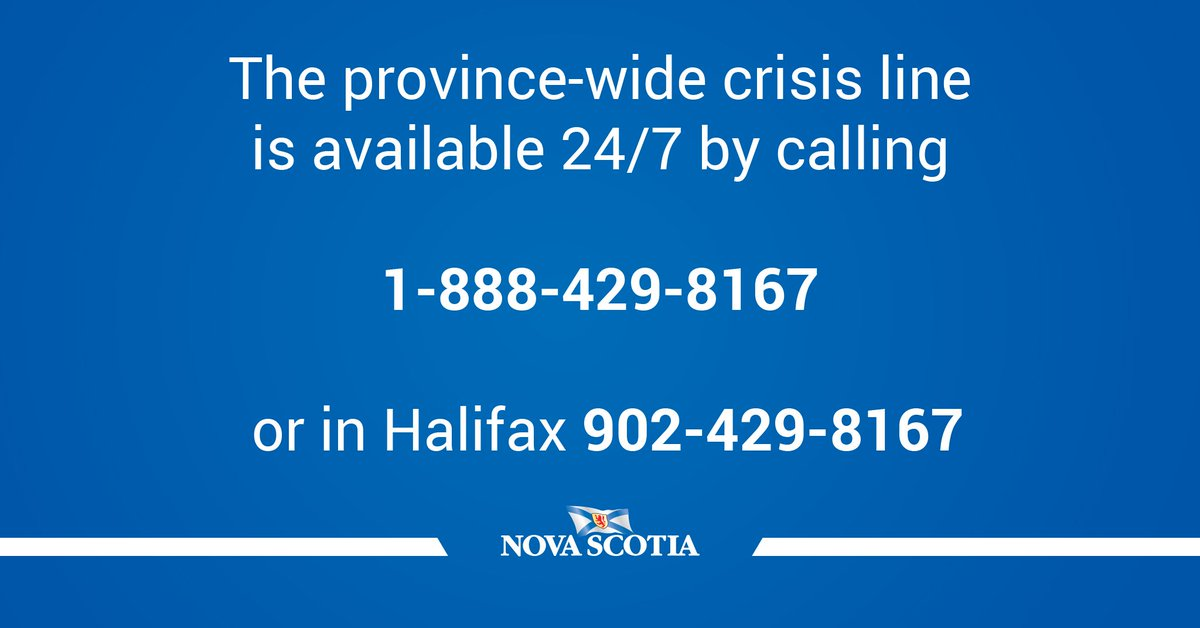 Need help? The #NSMentalHealth crisis line is free & accessible across NS https://t.co/ASgYeXOw6C #BellLetsTalk https://t.co/59wWkmbOOb