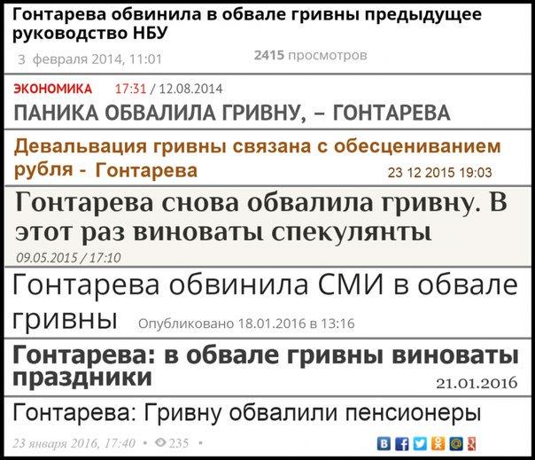 """Год работы Гонтаревой: топ-5 провалов НБУ, - """"Левый берег"""" - Цензор.НЕТ 664"""