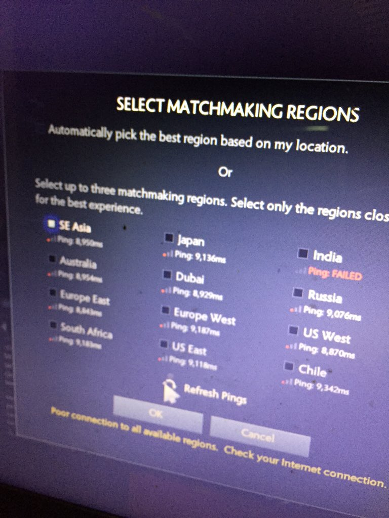 What matchmaking region is australia