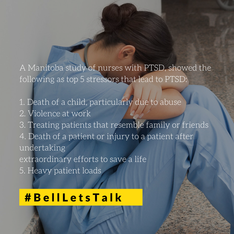 #PTSD affecting Canada's nurses is an important issue.  Proud of progress unions are making on it. #BellLetsTaIk https://t.co/kFMkOrujqv