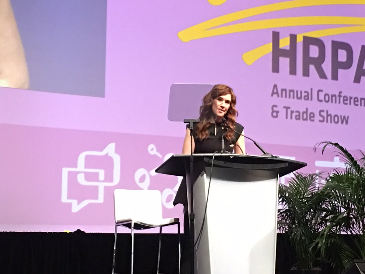 Thanks @ClaraHughes_ for the inspirational session & mental health discussion panel at our #HRPA2016! #BellLetsTalk https://t.co/ps0YU8Fwo1
