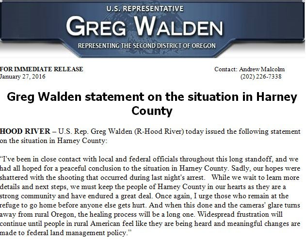 U.S. Rep. Greg Walden releases statement on situation in Harney County. https://t.co/IDt3dQ93W3 #KOIN6News https://t.co/c0TU0URPij