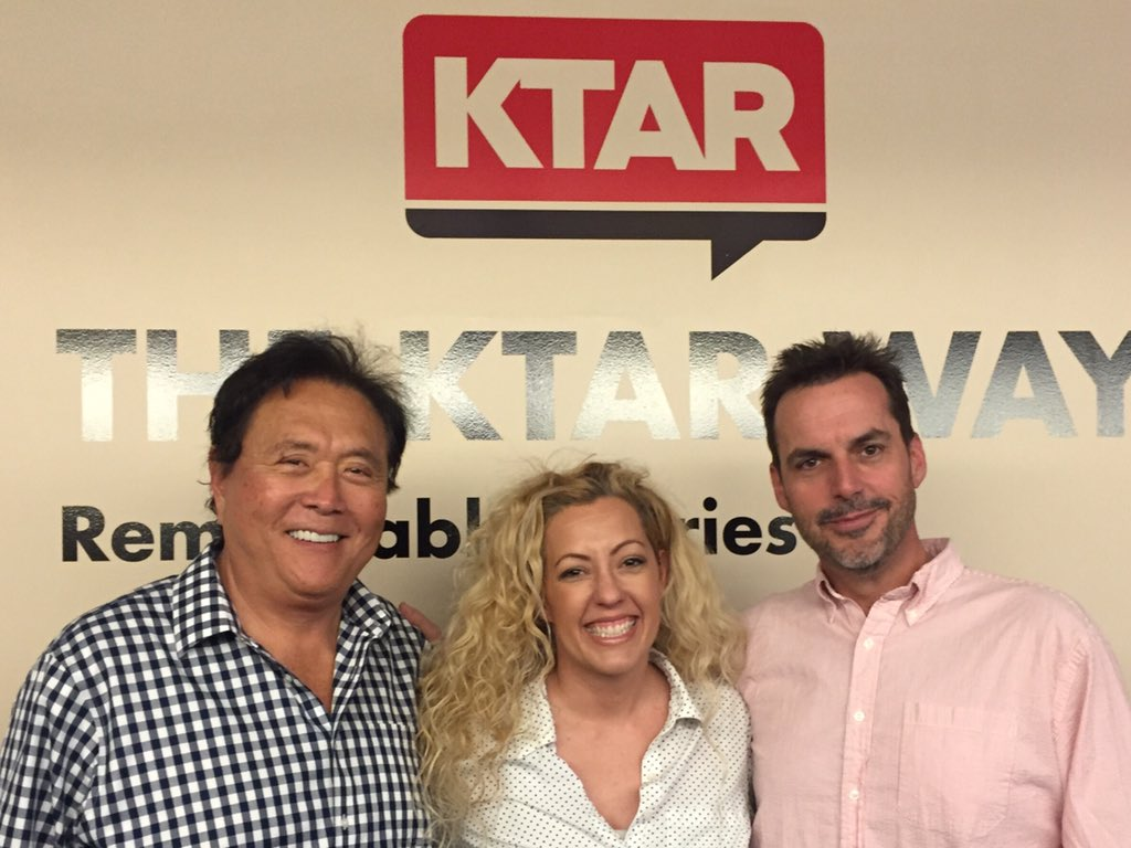 #RichDadPoorDad author @theRealKiyosaki joined us today and warned off another crash. Ugghh. #KTAR https://t.co/b1CY8l9XI2
