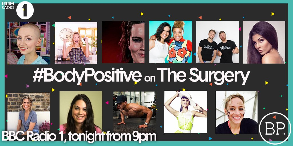 RT @BBCBodyPositive: TONIGHT!Tune in to our #bodypositive special on @BBCR1 with @gemcairn & @DrRadhaModgil.What makes you #bodypositive? h…