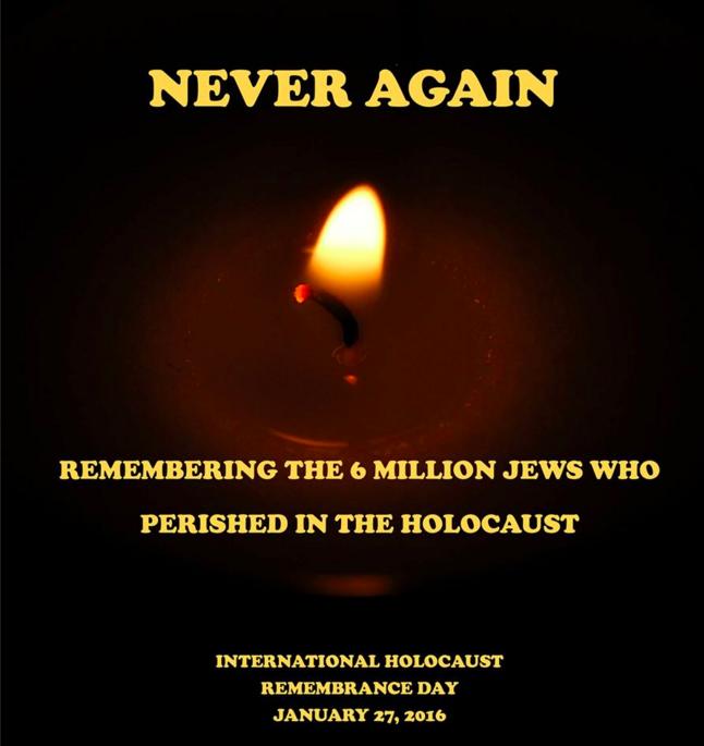 Never again #HolocaustRemembrance https://t.co/TAGVkJM4Gw