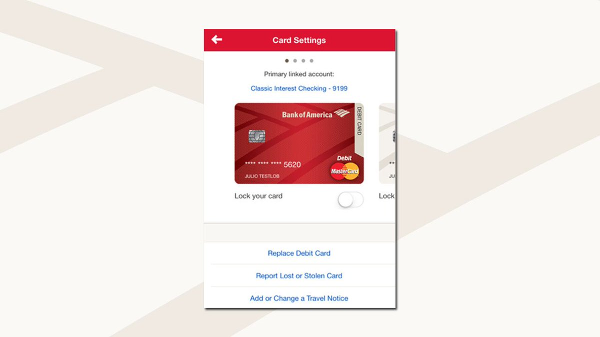 Bank Of America Tips On Twitter If Your Atm Debit Card Is Lost Or Stolen Updates To Mobile Banking Now Let You Report It Order A New Card Https T Co Byqmj9bxzo