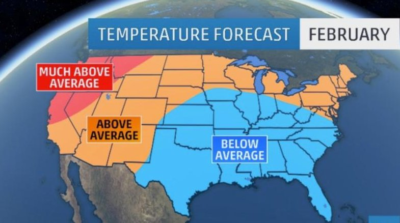 What's ahead for February? Find out here: https://t.co/sr9ZdaYDN1 #weather #forecast