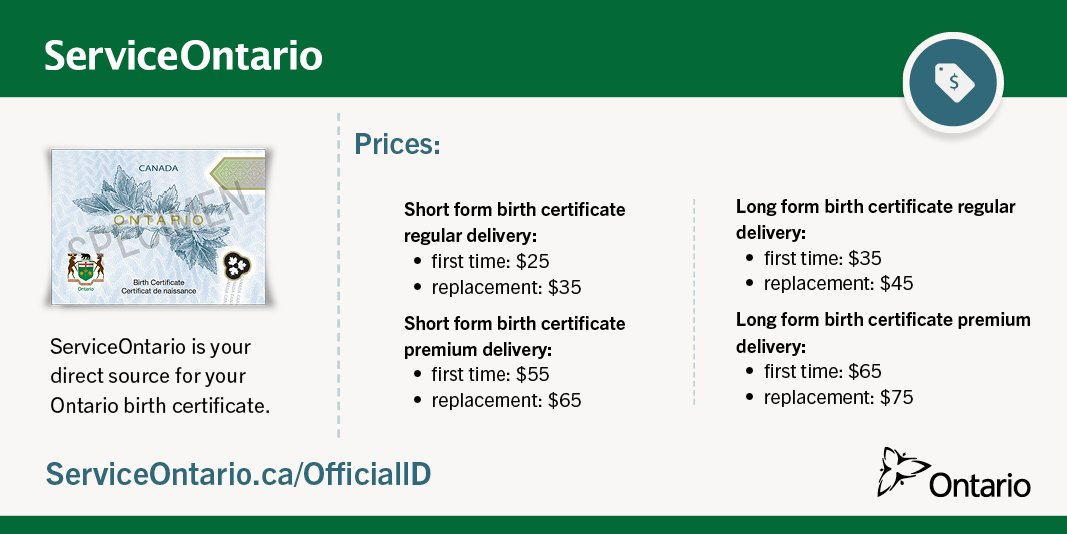 Serviceontario On Twitter It Costs 25 For A First Time Short Form