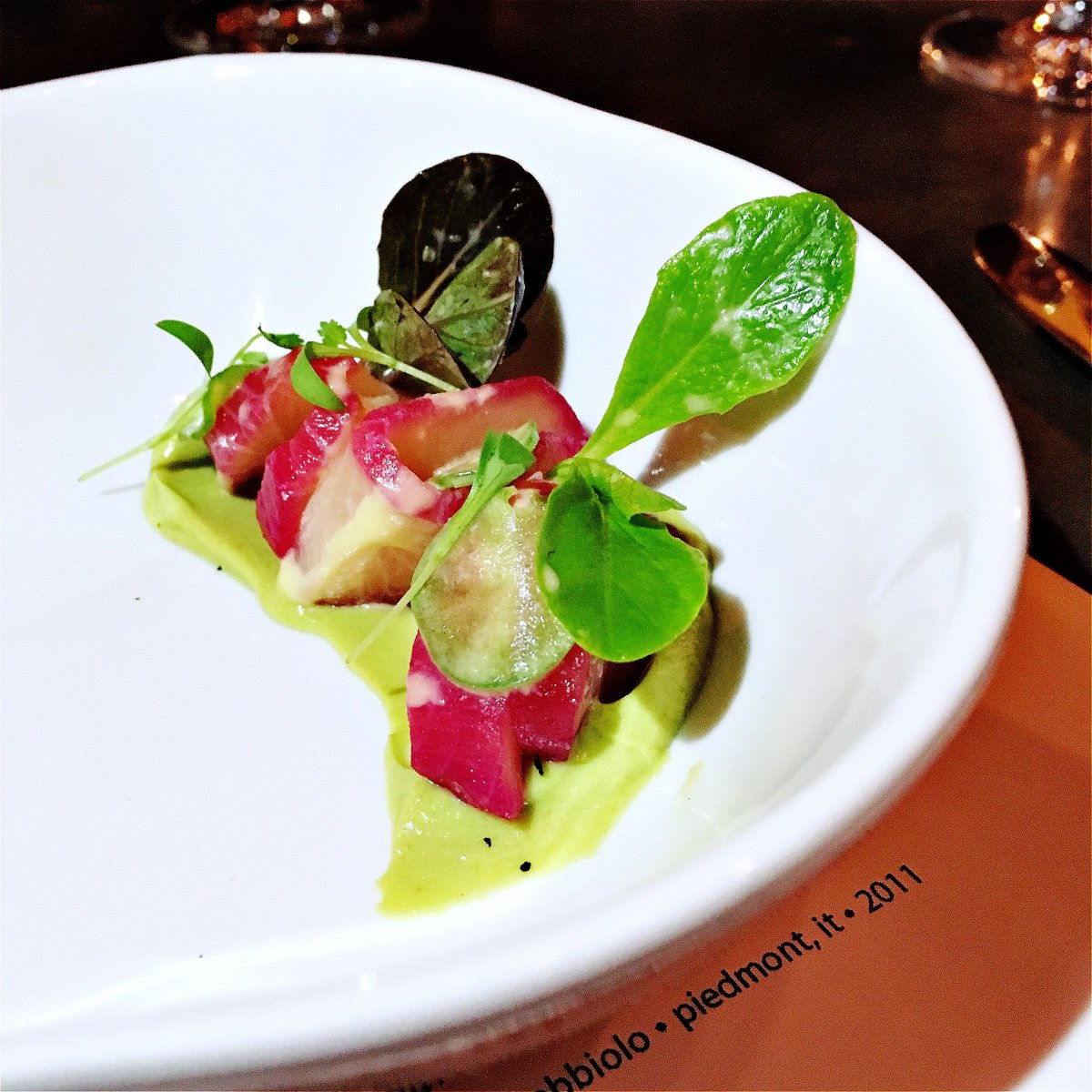 Nevin Martell On Twitter Stellar Start Beet Cured Hamachi On Avocado Pistachio Puree By Chefkwame Ripplewdc Https T Co Nefsic8glg