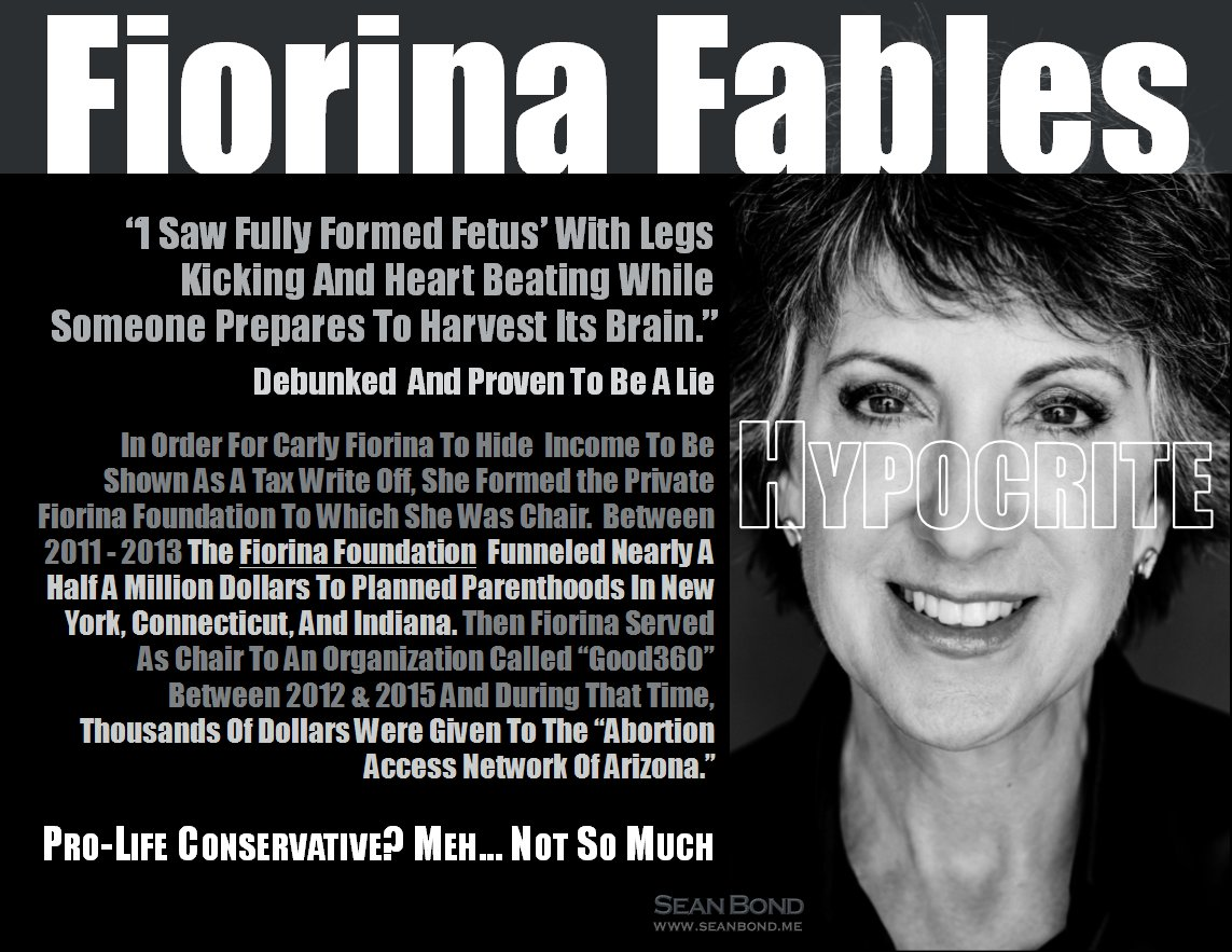 MT | Oops... Carly Fiorina benefited from company using aborted fetal stem cells   https://t.co/qzzQaCW1Xy https://t.co/vH0zbq9QbI