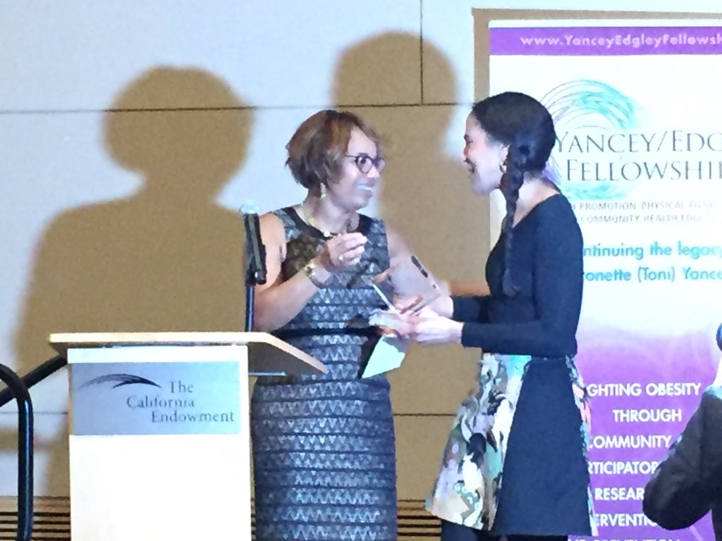 Kimberly Coleman-Phox received the first-ever Yancey/Edgley Fellowship Award! #yefellows https://t.co/gUEai8CwC4
